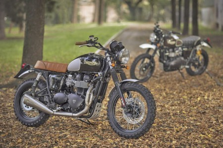 due Triumph con il kit Scrambler di Mr Martini_