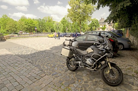 la BMW R 1200 GS Adventure del lungo viaggio  in Germania